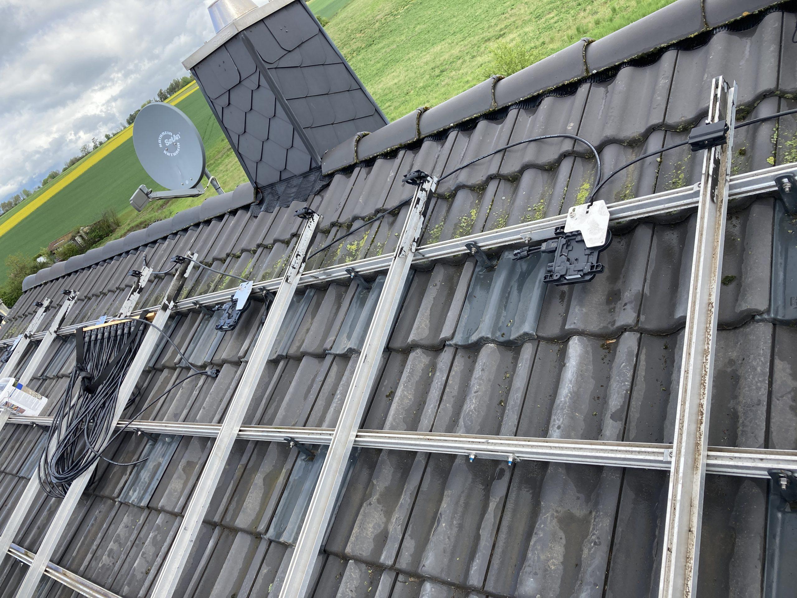 montierter Wechselrichter eine Photovoltaikanlage